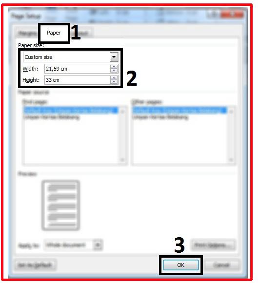 Begini Cara Mengatur Ukuran Kertas F4 Di Microsoft Word 2010