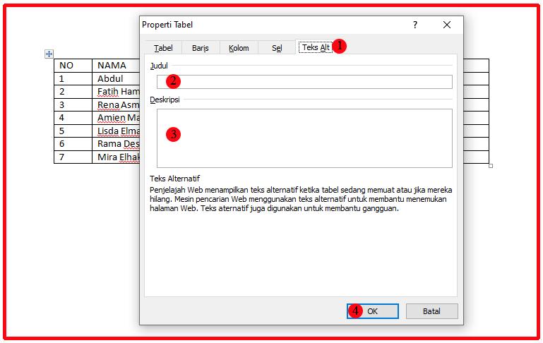 Cara Agar Tabel Tidak Terpotong di Word 7