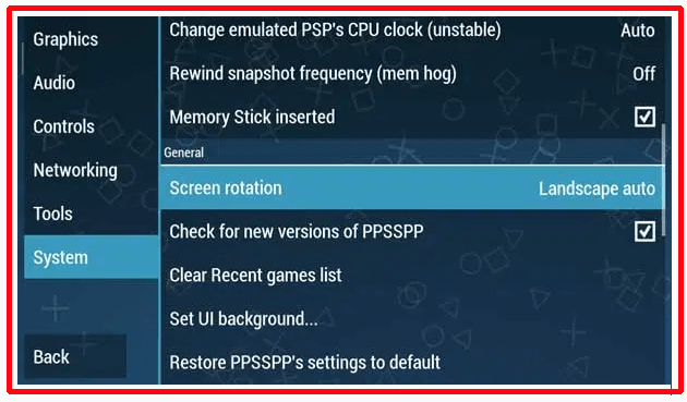 cara Setting PPSSPP Gold 1 7