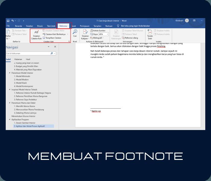 Cara Membuat Footnote & Endnote di Word 2013, 2016 & 2019