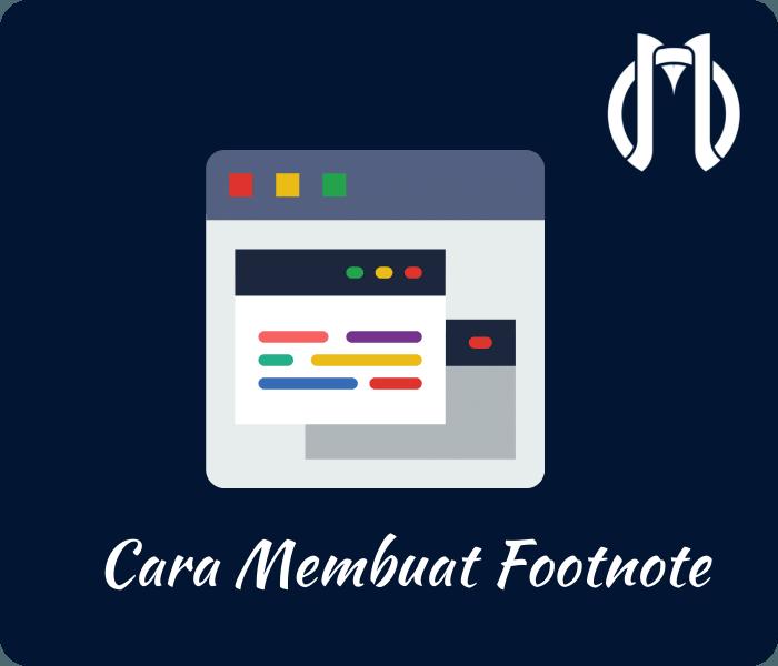 cara membuat footnote dari web